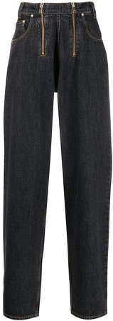 GmbH zipped straight-leg jeans