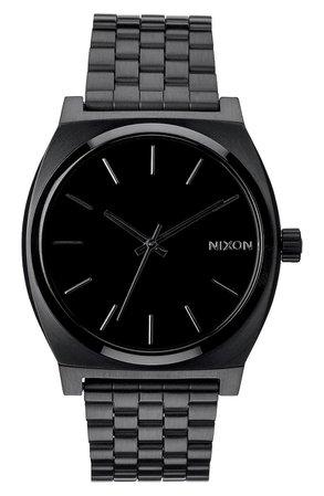 Nixon 'The Time Teller' Stainless Steel Bracelet Watch, 37mm | Nordstrom