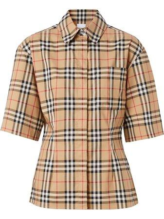 Burberry Vintage Check Short-Sleeved Shirt Ss20 | Farfetch.com