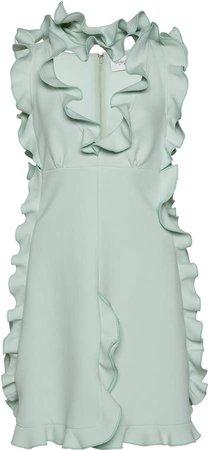 Giambattista Valli Ruffled Crepe Mini Dress Size: 40