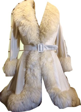 vintage white fur coat