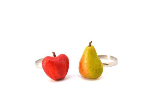 Anneau de pomme poire anneau de fruits anneau fruité   Etsy