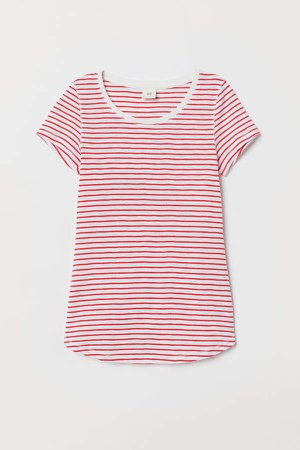Short-sleeved Jersey Top - Red