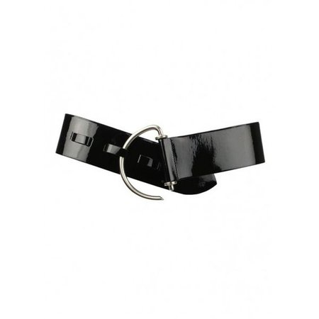 Niamh Patent Curved Hooked Belt