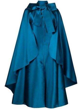 Alberta Ferretti metallic oversized cape