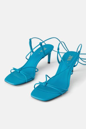 BLUE COLLECTION LEATHER METALLIC MID HEEL SHOES - DRESS TIME-WOMAN-CORNERSHOPS-NEW COLLECTION   ZARA United Kingdom