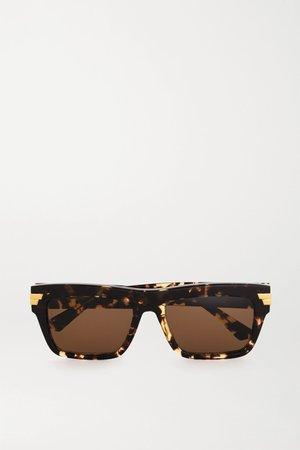 Tortoiseshell Square-frame tortoiseshell acetate sunglasses | Bottega Veneta | NET-A-PORTER