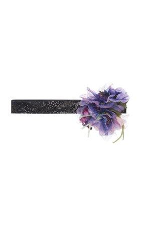 Floral-Embellished Leather Belt by Dolce & Gabbana | Moda Operandi