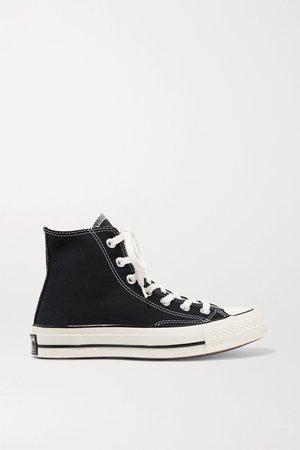 Black Chuck Taylor All Star 70 canvas high-top sneakers   Converse   NET-A-PORTER