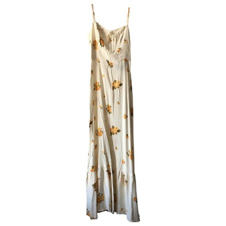 Maxi dress Reformation White size 2 US in Viscose - 8260670