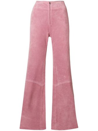 Victoria Beckham panelled flare trousers pink TRWID2509PAW18 - Farfetch
