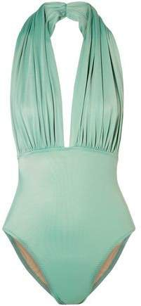 Mio Ruched Halterneck Swimsuit