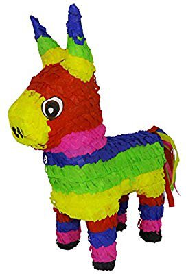 Amazon.com: Aurabeam Original Classic Donkey Pinata (Rainbow Color) - Mexican Piñata - Handmade in Mexico: Toys & Games