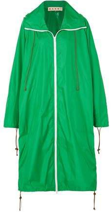 Oversized Shell Hooded Raincoat