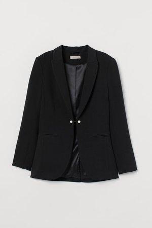 Fitted Jacket - Black - Ladies | H&M US