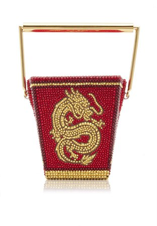 Judith Leiber Couture Golden Dragon Crystal Clutch
