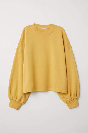 Wide-cut Sweatshirt - Yellow