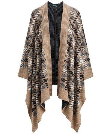Lauren Ralph Lauren Plaid Poncho Cardigan - Coats - Women - Macy's