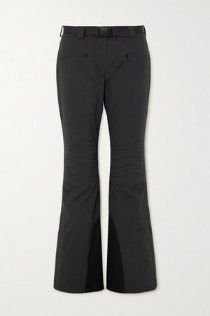 Basq Belted Straight-leg Ski Pants - Black