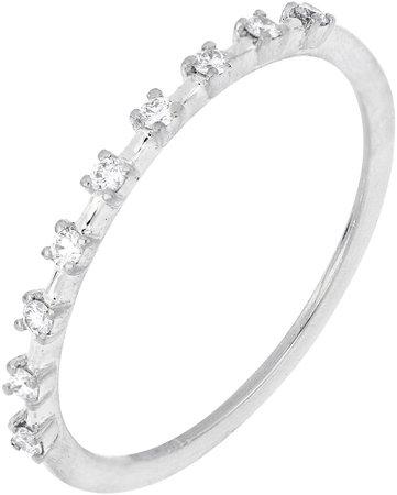 Solstice Halfway Diamond Band Ring