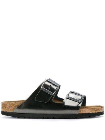 Birkenstock double-strap sandals metallic 1000295 - Farfetch