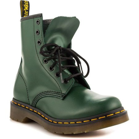 Dark Green Doc Marten Boots