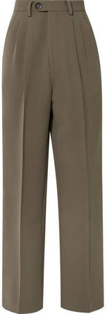 Peter Do - Cady Wide-leg Pants - Army green