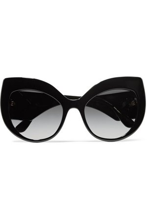 Dolce & Gabbana | Crystal-embellished cat-eye acetate sunglasses | NET-A-PORTER.COM