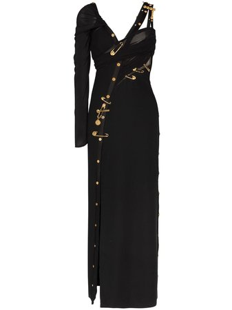 Versace safety pin asymmetric dress £5,770 - Shop Online - Fast Delivery, Free Returns