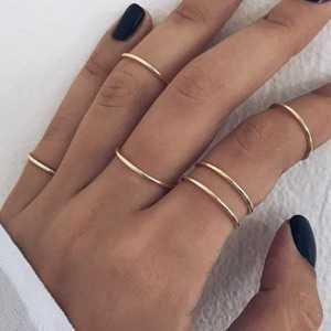 Gold Drew Ring Set