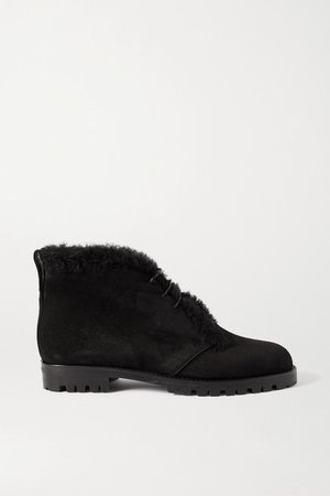 Mircus Shearling-lined Suede Ankle Boots - Black