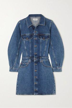 Indigo Denim mini dress | AGOLDE | NET-A-PORTER