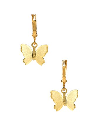 revolve butterfly earrings