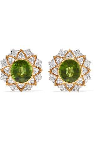 Buccellati | Ohrringe aus 18 Karat Gelb- und Weißgold mit Peridoten und Diamanten | NET-A-PORTER.COM