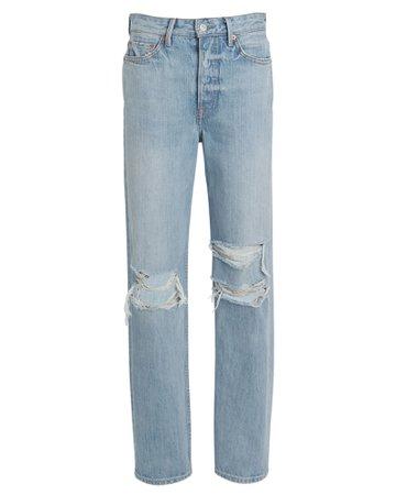 GRLFRND Mica Distressed High-Rise Jeans | INTERMIX®