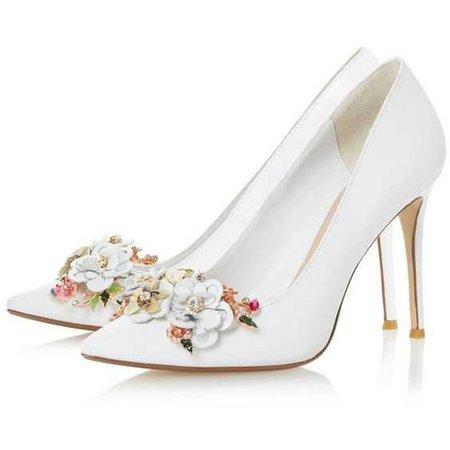 Flower Garden High Heel Court Shoe