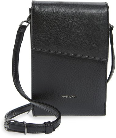 Met Vegan Leather Crossbody Wallet