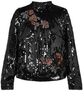 Valentine Sequined Tulle Top