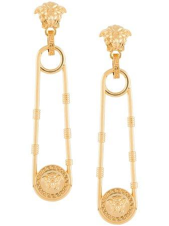 Versace, Safety Pin Medusa Earrings