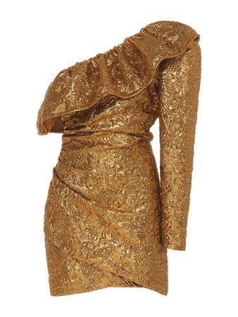 Farfetch Gold Dress PNG