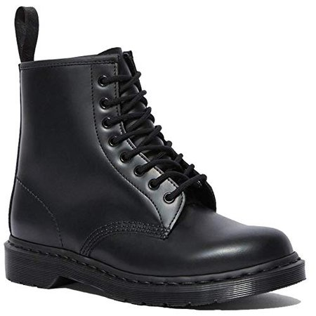 Amazon.com | Dr. Martens - 1460 Mono 8-Eye Leather Boot for Men and Women, Black Smooth, 11 US Women / 10 US Men | Ankle & Bootie