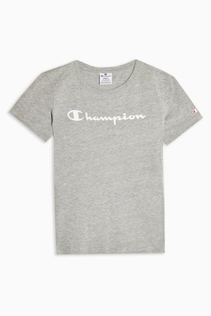 Grey Light Cotton T-Shirt by Champion | Topshop