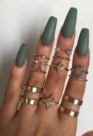 olive green nails matte - Google Search