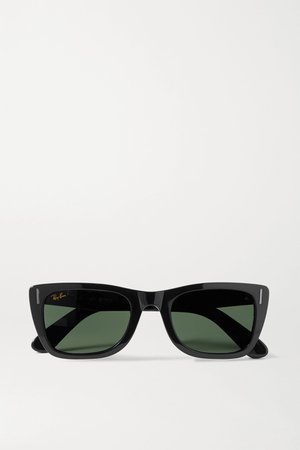 Black Caribbean D-frame acetate sunglasses | Ray-Ban | NET-A-PORTER