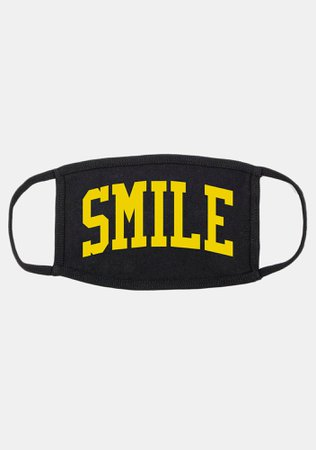 CHINATOWN MARKET Smile Face Mask   Dolls Kill