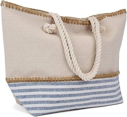 Tote Bag - Beach Bag - Beach Tote - Large Tote Bag with Rope Handles - Rutledge & King