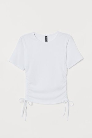 Ribbed Top - White