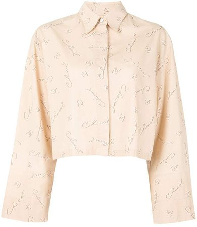 Chanel Pre Owned 1999s CC logos long sleeve tops blouse shirt