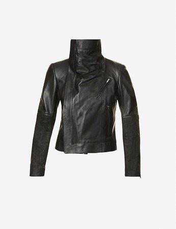 RICK OWENS - Larry padded leather jacket | Selfridges.com