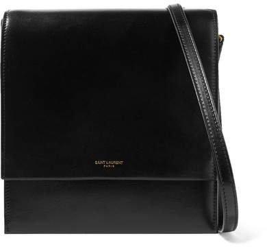 Sao Leather Shoulder Bag - Black